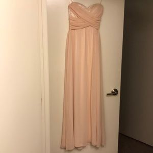 Chi Chi London Full Length Dress in Peach